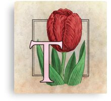 T is for Tulip - full image Canvas Print