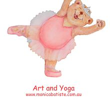 Art and Yoga with Ballet Bear by Monica Batiste