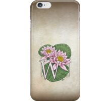 W is for Water Lily  iPhone Case/Skin