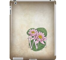 W is for Water Lily  iPad Case/Skin