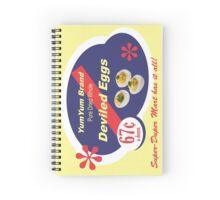 Yum Yum Deviled Eggs Spiral Notebook