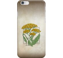 Y is for Yarrow iPhone Case/Skin