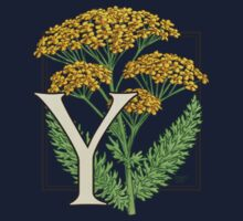 Y is for Yarrow card Kids Clothes