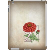 Z is for Zinnia card iPad Case/Skin