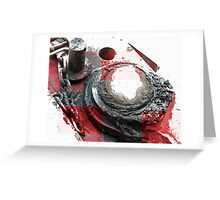 Red Grease Greeting Card