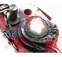 Red Grease Photographic Print