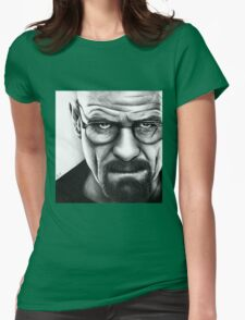 Walter White - Portrait Womens Fitted T-Shirt