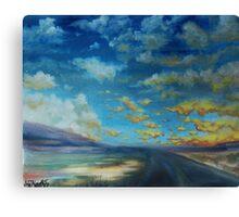 stormy midmorning, nebraska. Canvas Print