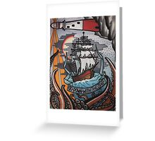 go down with the ship. Greeting Card
