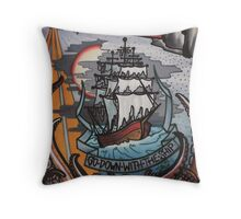 go down with the ship. Throw Pillow