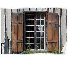Brown Window Closeup Poster