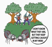 Spider Web Humor Kids Clothes