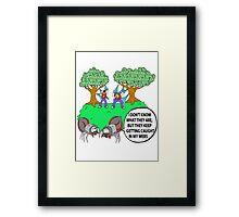 Spider Web Humor Framed Print