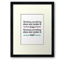 The Unbecoming of Mara Dyer: Reality Framed Print