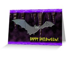 Halloween Bat Greeting Card