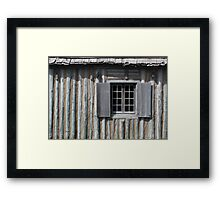 Gray Shutters 1 Framed Print