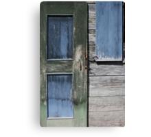 Green Door Blue Window Canvas Print