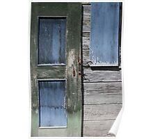Green Door Blue Window Poster