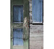Green Door Blue Window Photographic Print