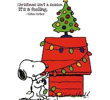 christmas snoopy lights tree by DinaPurifoy