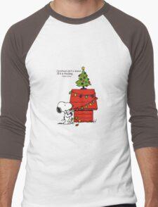 christmas snoopy lights tree Men's Baseball ¾ T-Shirt