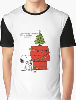 christmas snoopy lights tree Graphic T-Shirt