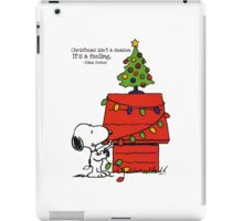 christmas snoopy lights tree iPad Case/Skin