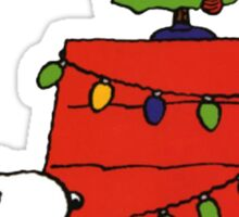 christmas snoopy lights tree Sticker