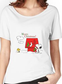 merry christmas snoopy Women's Relaxed Fit T-Shirt
