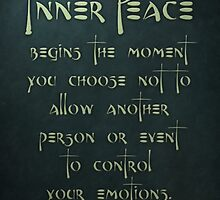 Inner Peace begins... by Zero Dean