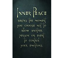 Inner Peace begins... Photographic Print