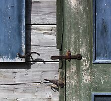 Window and Door Hardware Blue by marybedy