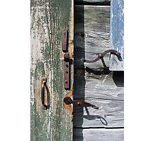 Window and Door Hardware Green Photographic Print