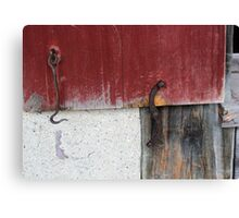 Window Hardware 1 Red Canvas Print