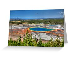 Grand Prismatic Spring, Yellowstone National Park Greeting Card