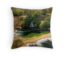 Waterfalls and Lagoons Throw Pillow