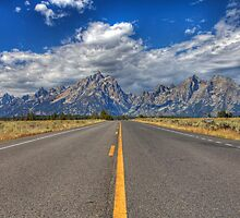 Road to Grand Teton National Park by activebeck2012