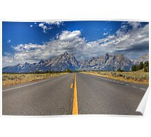Road to Grand Teton National Park Poster