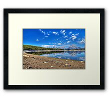 Teton Range Reflection Framed Print