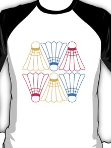 Vector Badminton Pattern T-Shirt