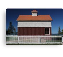Old Mackinac Point Lighthouse Barn Canvas Print