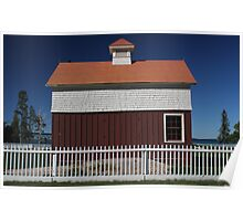 Old Mackinac Point Lighthouse Barn Poster