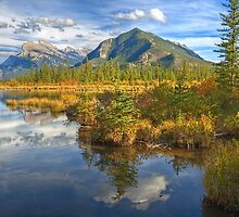 Fall Colors of Vermilion Lakes by JamesA1