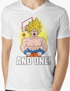 "Super Saiyan ""And One"" (Dark Colors) Mens V-Neck T-Shirt"