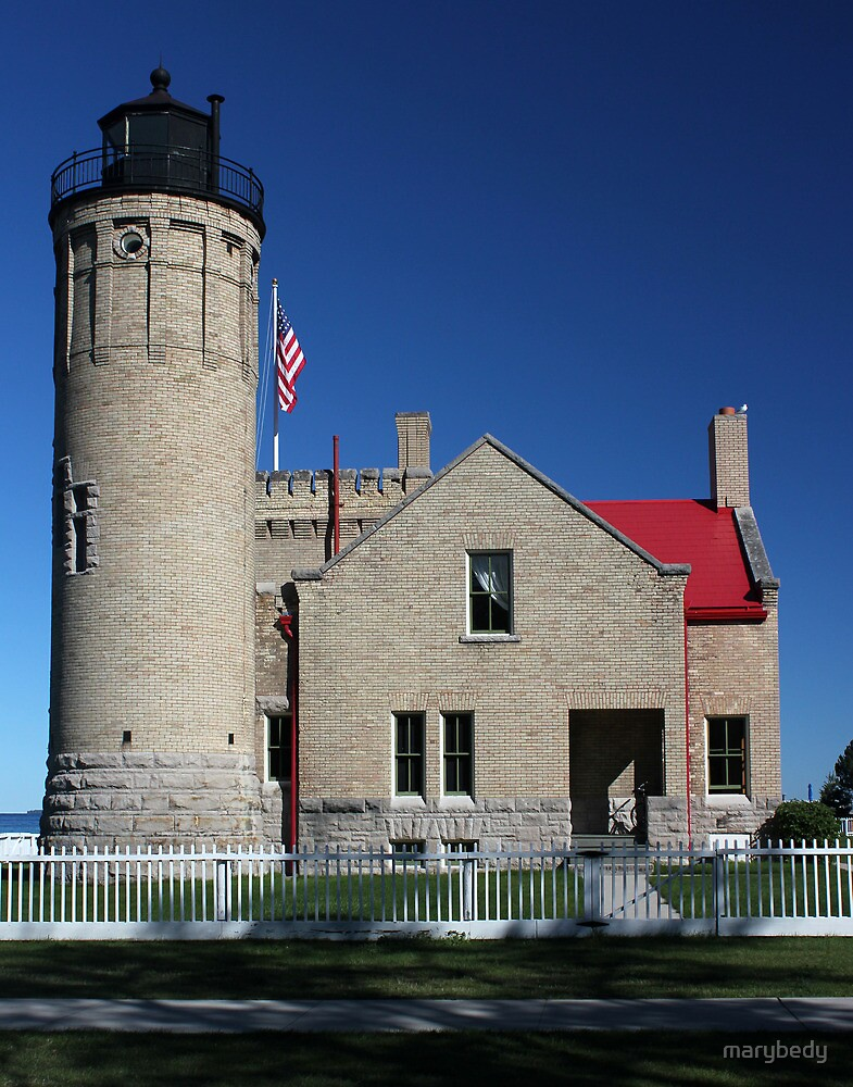 Old Mackinac Lighthouse Point Side View by marybedy