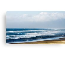 Rolling Waves On Sea Shore Canvas Print