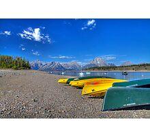 Signal Mountain Marina, Grand Teton National Park Photographic Print
