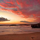 Firey Sunset Over Indian Ocean by Boyd Nesbitt