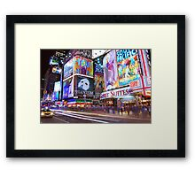 Times Square Broadway Framed Print