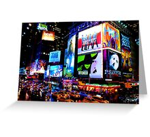 Times Square Broadway Greeting Card